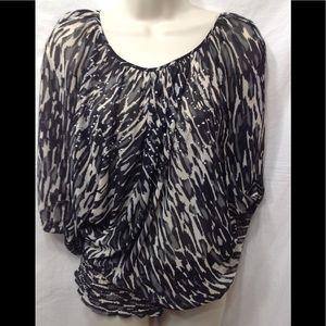 Women's size Medium A.N.A. elastic waist blouse